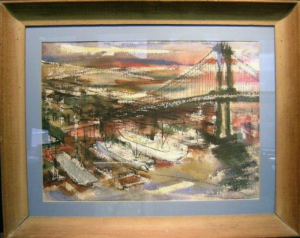 21: E. Ainslie Burke American, 1922-1991 EAST RIVER I a