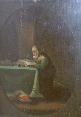25: Flemish School 18th Century SCRIBE IN HIS OFFICE