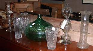 301: Miscellaneous Group of Seven Glass Table Decoratio