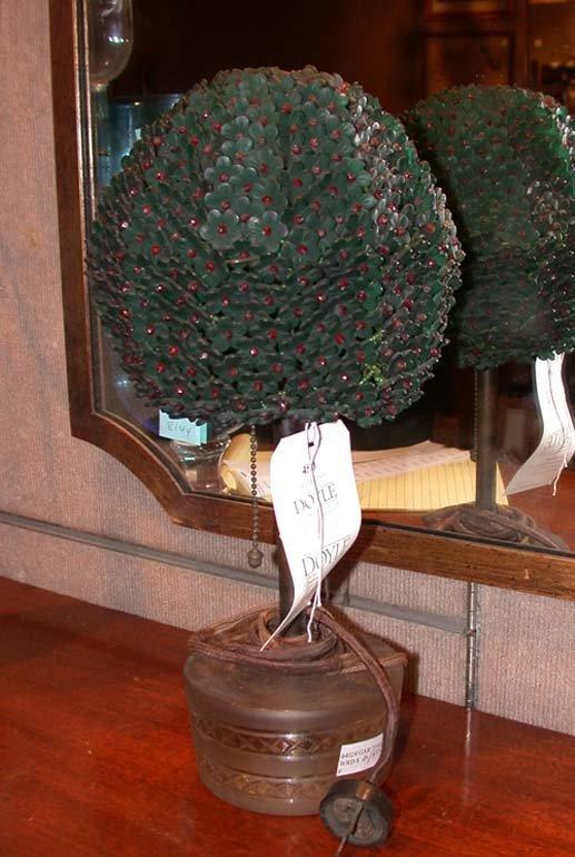 450: Czechoslovakian Glass Bead Topiary-Form Lamp