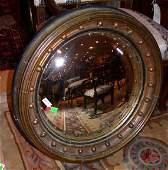 1310: Georgian Style Gilt-Wood Convex Mirror