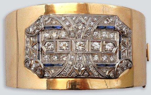 2005: Diamond and Synthetic Sapphire Cuff Bangle