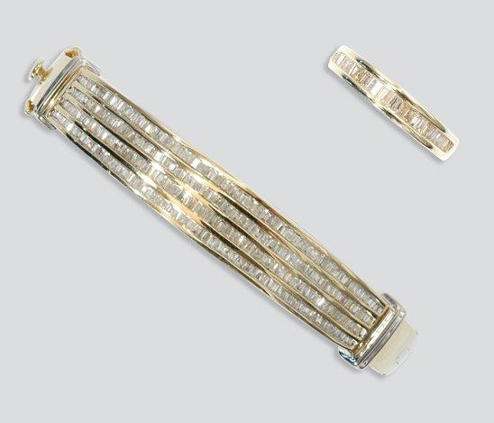 2019: Gold and Diamond Bangle and Ring