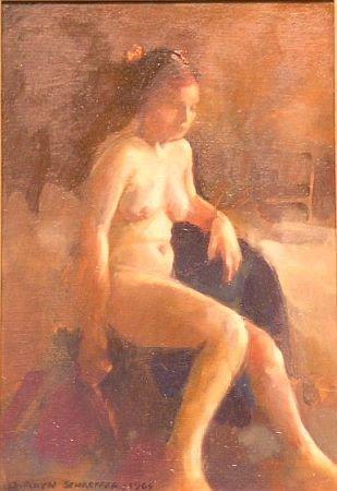 8: S. Aryn Schaeffer American, 20th century SEATED NUDE