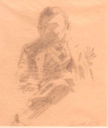 9: Joseph Stella American, 1877-1966 SEATED MAN
