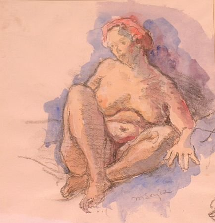 11: Moses Soyer American, 1899-1974 (i) RECLINING NUDE