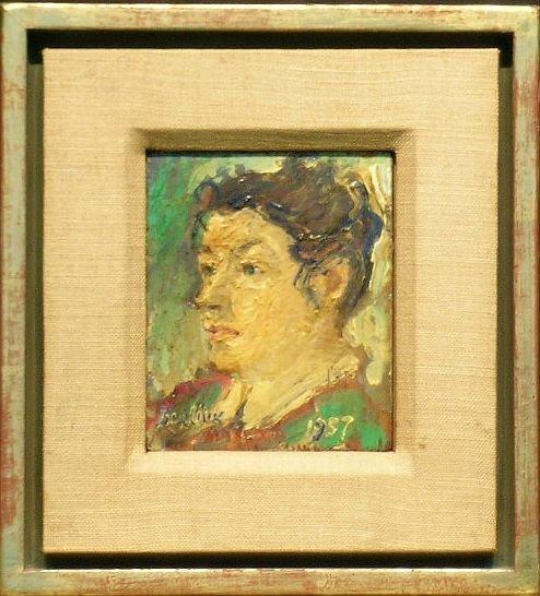 13: David Burliuk American, 1882-1967 PORTRAIT OF MARUS