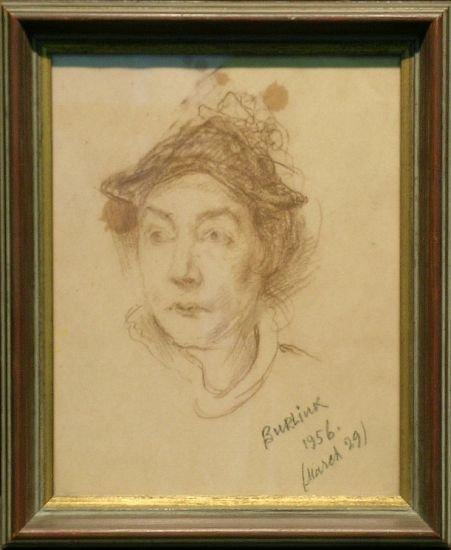14: David Burliuk American, 1882-1967 PORTRAIT OF MARUS