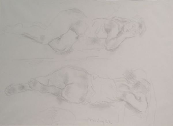 21: Moses Soyer American, 1899-1974 (i) NUDE STUDIES (i