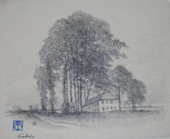 23: Leon Dabo American, 1868-1960 RIVER-SIDE TREE, SEPT