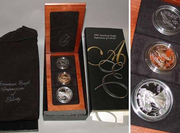6: Three-Piece American Eagle Coin Set