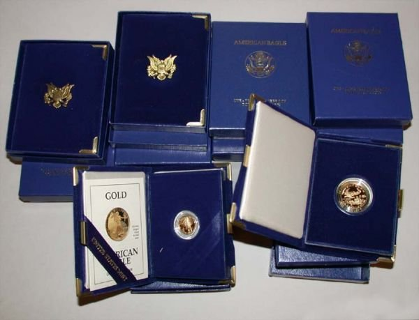 12: Group of Assorted Gold Bullion Proof Coins