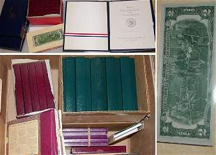 Group of Assorted Coins, Currency and Proof Sets