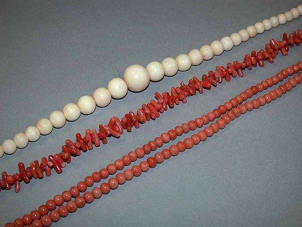 23: Three Coral Necklaces