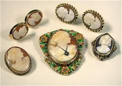 Group of Assorted Cameo Jewelry