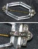 461 Art Deco Diamond and Rock Crystal Pin