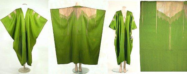 2004: Spectacular Acid Green Silk Ottoman Aba