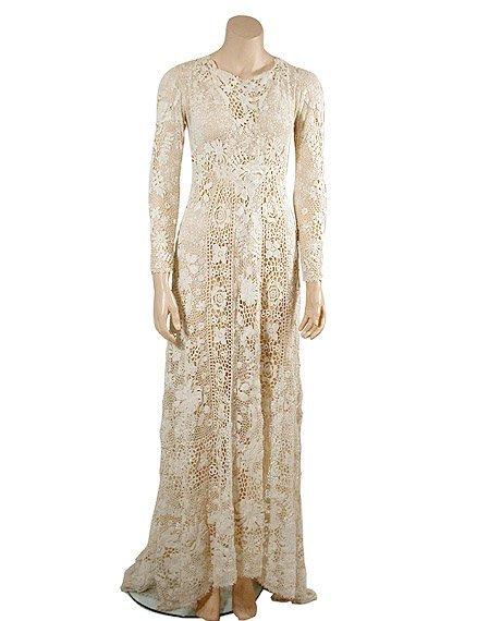 2006: Irish White Crochet Lace Wedding Dress