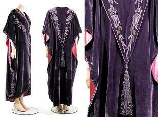 Liberty & Co. Art Nouveau Velvet Opera Coat