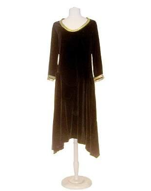 Poiret Black Velvet Late Day Dress