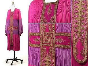 Poiret Rich Silk Crepe de Chine Late Day Dress