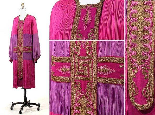 2018: Poiret Rich Silk Crepe de Chine Late Day Dress