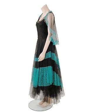 Poiret Black Silk Tulle Evening Dress