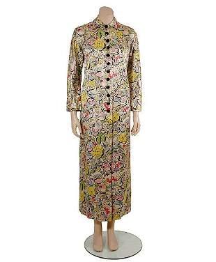 Brooke Cadwallader Handprinted Silk Satin Robe