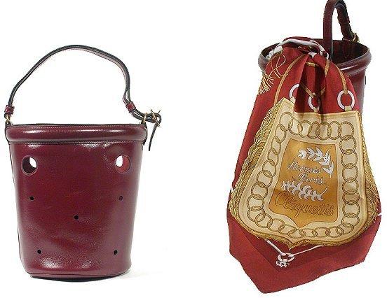 2292: Hermes Bucket Bag and Scarf
