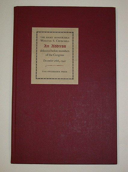 4008: CHURCHILL, WINSTON An Address . . . December 26th