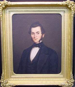 American School 19th Century PORTRAIT OF GALUSHA