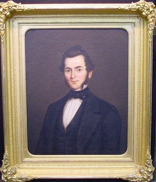 3001: American School 19th Century PORTRAIT OF GALUSHA
