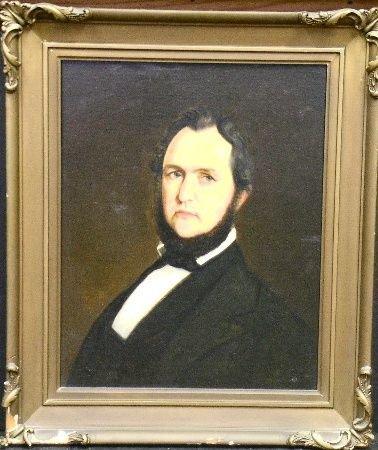3004: American School 19th Century PORTRAIT OF A GENTLE