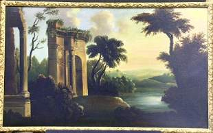 Circle of Thomas Chambers EXTENSIVE LANDSCAPE WIT