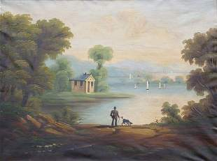 Follower of Thomas Chambers MAN WITH DOG IN AND E