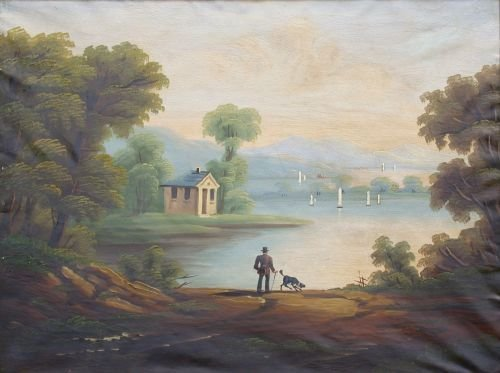 3010: Follower of Thomas Chambers MAN WITH DOG IN AND E