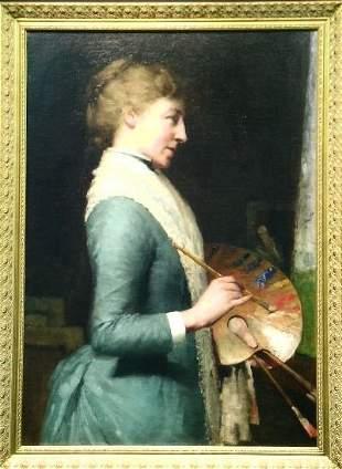 Charles Lasar American, 1856-1936 THE LADY ARTIST
