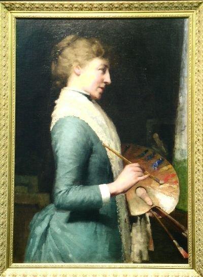 3016: Charles Lasar American, 1856-1936 THE LADY ARTIST