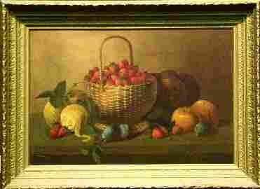 3024: Manner of Raphael Peale STILL LIFE WITH FRUIT ON