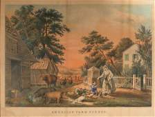 3033 Currier  Ives publishers AMERICAN FARM SCENES