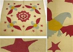 Pieced Cotton Quilt  Circa 1900