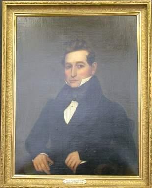 American School, 19th Century, PORTRAIT OF A MAN