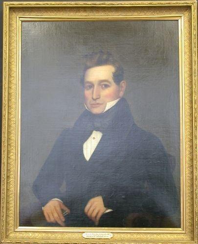 3015A: American School, 19th Century, PORTRAIT OF A MAN