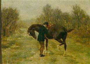 Jean Richard Goubie French, 1842-1899 HORSE AND R