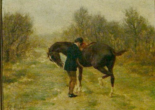 5003: Jean Richard Goubie French, 1842-1899 HORSE AND R