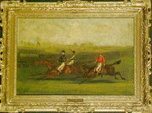 Byron Webb British, 1831-1867 RACING SCENE