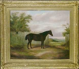 James Clark British, 19th century HUNTER BEFORE A