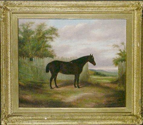 5012: James Clark British, 19th century HUNTER BEFORE A