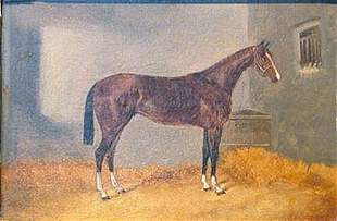George Hepper British, d.1868 HORSE IN STABLE