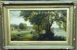 W. Field 1864, Signed lower Center, New Mown Hay,